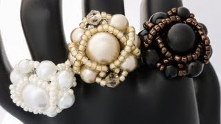 TheHeartBeading: Pearl Ring Tutorial (no sound)