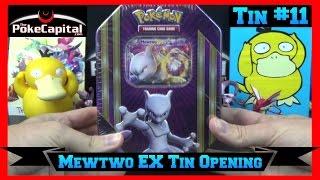 Pokemon Cards Mewtwo EX Tin Opening Battle vs Papa Blastoise - Marathon Day 11