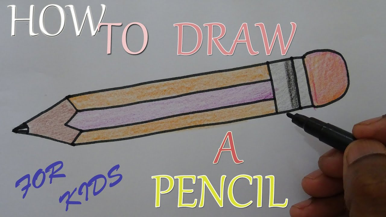 How to draw a pencil 44