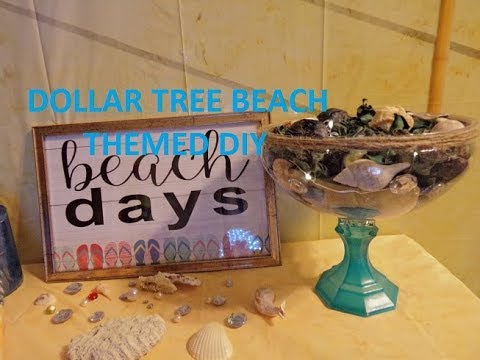 DIY DOLLAR TREE Beach Theme Bathroom Decor