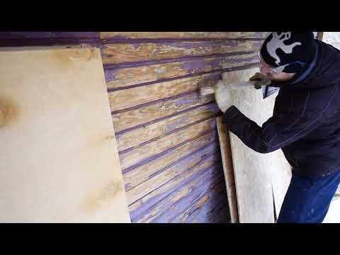 """Самодельная цикля """"Короед 2"""" очистка деревянного дома от краски"""