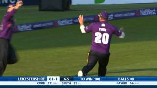 amazing catch highlights of yorkshire vikings vs leicestershire foxes