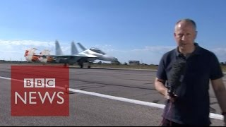 BBC inside airbase where Russia carries out Syria airstrikes  - BBC News