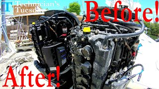 Cleaning An Outboard Engine!