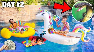 Last To STOP Playing W/Their FIDGETS In The POOL Wins A MYSTERY PRIZE (SNAKE IN OUR BACK YARD) SCARY