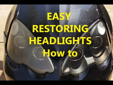 How to Restore Headlights Easy and Cheap DIY