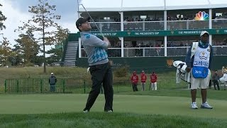 Branden Grace's flop shot goes sky high at The Presidents Cup