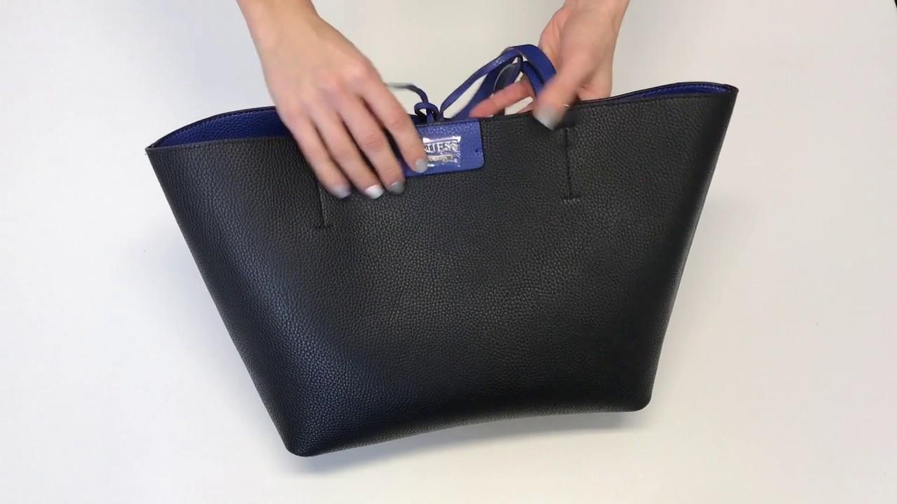 Guess Bobbi Reversible Bag 3v1 - YouTube 18fe12d7bc2