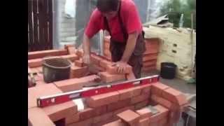 Садовая печь барбекю из кирпича с мангалом(Огромный выбор проектов, каминов, печей, барбекю, на сайте: http://bit.ly/1GYo9xk Тэги для этого видео: проекты камин..., 2015-07-02T11:11:32.000Z)
