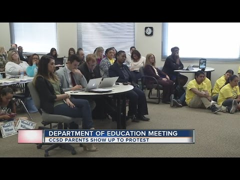 UPDATE: Parents protest at Nevada Department of Education meeting
