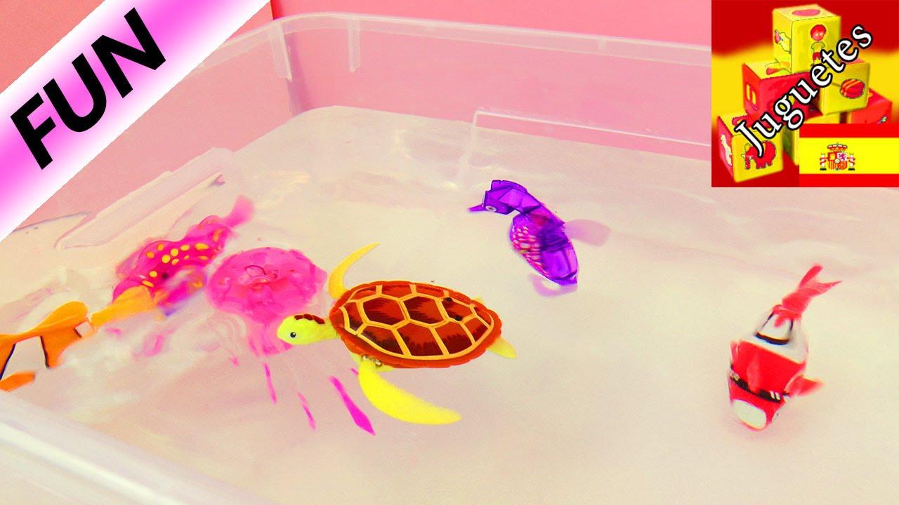 4 piezas PEZ Robot de Nataci/ón Juguete Electr/ónico Realista Multicolor Mini Pez El/éctrico Brillante Juguete de Ba/ño Para Ni/ños Juguete Interesante Para Mascotas Con Luces Led En La Cabeza De Pez