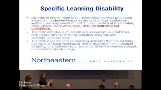 NEIU Learning Disabilities Panel, Part 1