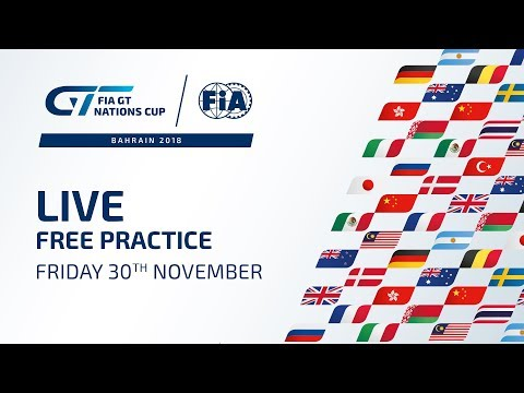 Free Practice - Bahrain - FIA GT Nations Cup 2018