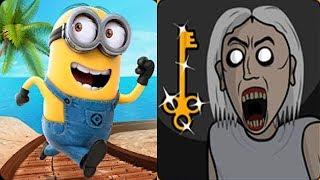 Despicable Me Minion Rush vs Granny 2D Horror Escape Game