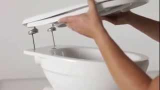 видео как установить стульчак на унитаз