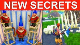 10 ª TEMPORADA * SECRETS *! Mudanças enormes do mapa que vêm! Húmido, nivelado, inclinado, preguiçoso! BATTLE ROYALE DO FORTNITE