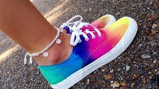 How to tie dye shoes (van look a likes)