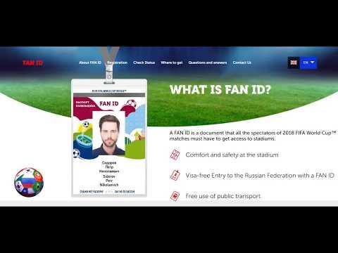 FIFA VM 2018 Fan ID bild på 2 sekunder