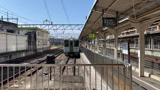 JR東日本 キハ110系 高崎駅に到着ある