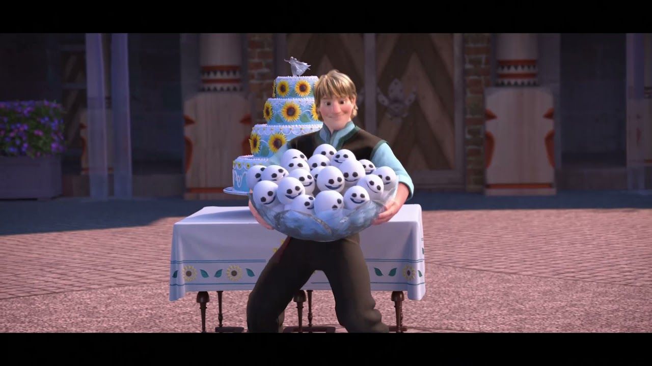 Frozen Fever   Olaf, Kristoff y Sven arreglan el patio   Disney Junior España