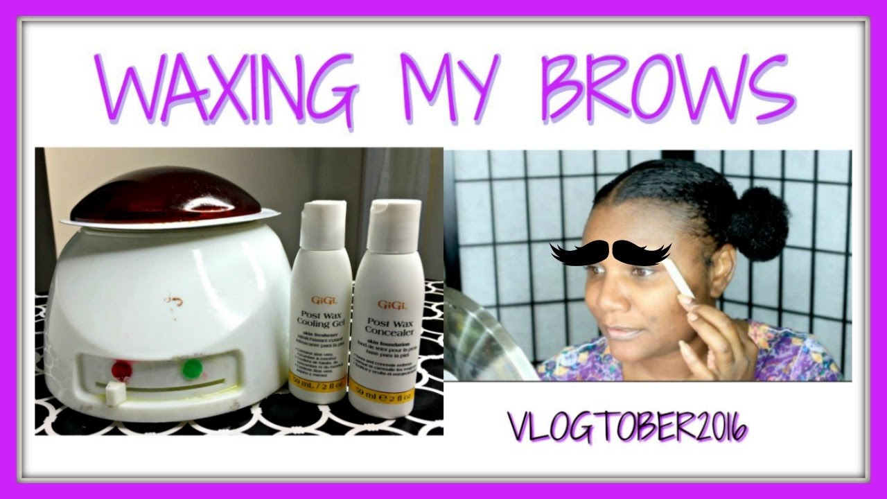 Waxing My Brows Gigi Wax Kit Walmart Salon Vlogtober 13 Youtube