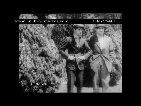 Oliver Hardy Comedy extract.  Archive film 99461