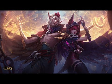Xayah x Rakan | LEAGUE OF LEGENDS SPEEDPAINT