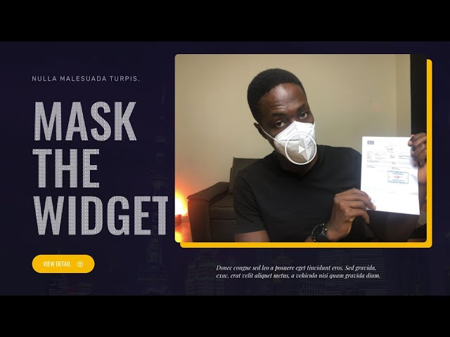 Let's mask up with elementor (how the elementor mask works)
