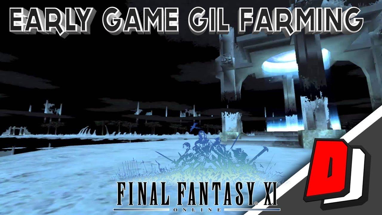 Final Fantasy XI (FFXI) in 2017 - EARLY GAME GIL FARMING!!
