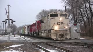 SD70ACUs - CP 7017 Heritage Unit And CP 7021 Military Unit