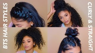 Back to School Hairstyles Curly & Straight | jasmeannnn