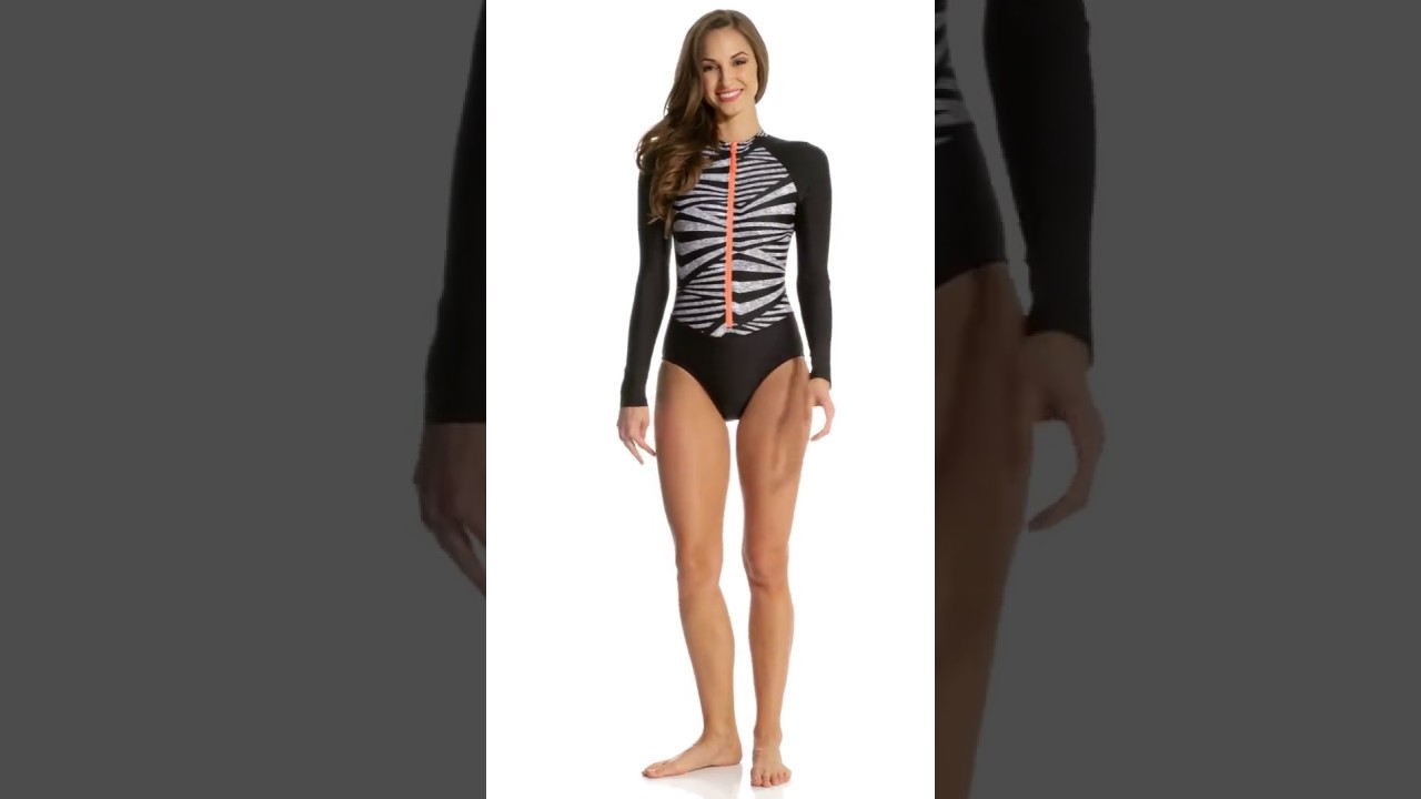 3d3deeef81e Speedo Women's Long Sleeve One Piece Swimsuit | SwimOutlet.com - YouTube