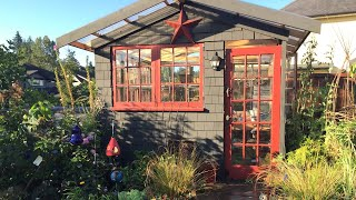 Building A Greenhouse From Recycled Materials - She Shed - Backyard Studio Before and After