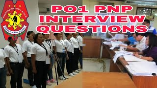 po1 interview for pnp
