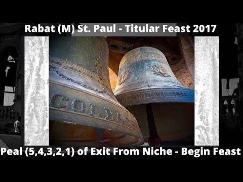 Rabat Malta - Titular Feast 2017 - Exit From Niche (5,4,3,2,1) - 5 Bells / 1