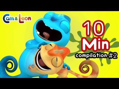 Hilarious Children Cartoon | 10 Minutes Compilation #2 | Cam & Leon