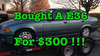 Bought A BMW E36 With A Blown Head Gasket Today !!!