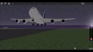 Roblox | Lufthansa 747-8i landing