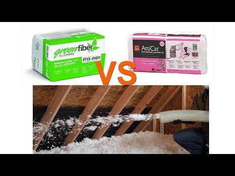 GreenFiber Vs. Atticat Blown In Attic Insulation Comparison and How To