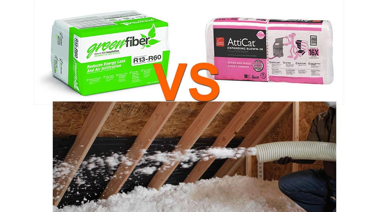 GreenFiber Vs. Atticat Blown In Attic Insulation Comparison and How To  sc 1 st  YouTube & GreenFiber Vs. Atticat Blown In Attic Insulation Comparison and How ...