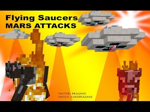 UFO Flying Saucers in Minecraft 1.8