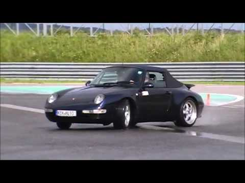 Porsche Carrera 911 drifting 993 Action Drift Pirelli Power luftgekühlt
