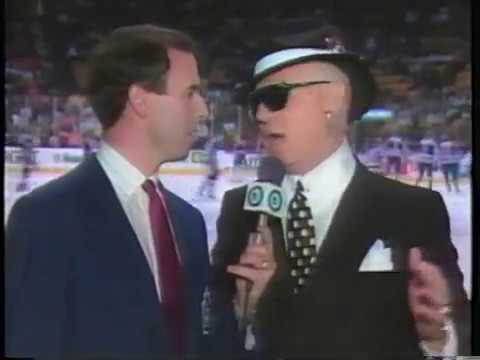 Don Cherry goes Hollywood (LA Forum) - 1991 Playoffs