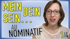 Les pronoms possessifs allemands au NOMINATIF (vidéo 1/4)