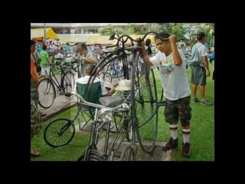 Penny farthing Thailand - จักรยานล้อโตสพานใหม่