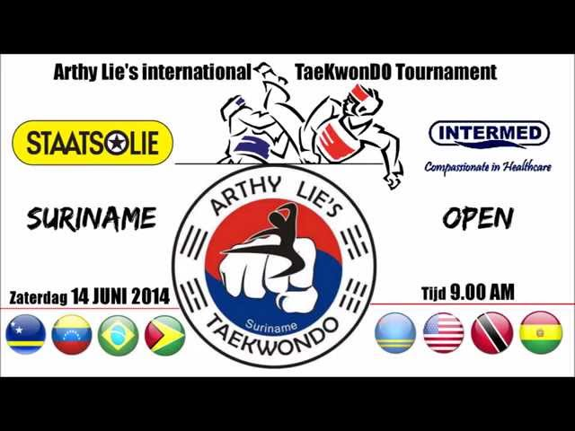 Arthy Lie's TaeKwonDO international tournament! (Suriname Open 2014)