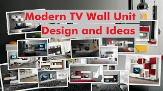Modern TV Wall Unit Design and Ideas