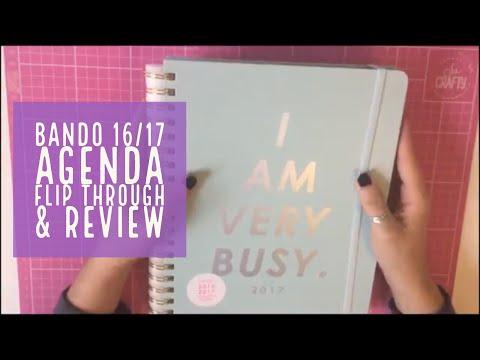 Ban.do 2016/2017 17 month agenda flip through & review | bando planner flip through
