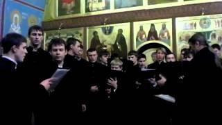 Отче Наш. Хор Почаевской семинарии