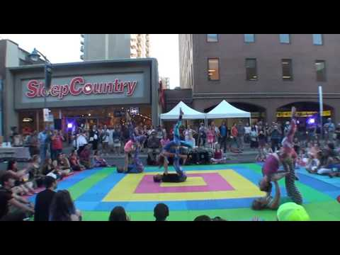 AcroYoga at Ottawa Glow Fair 2016 a quick edit
